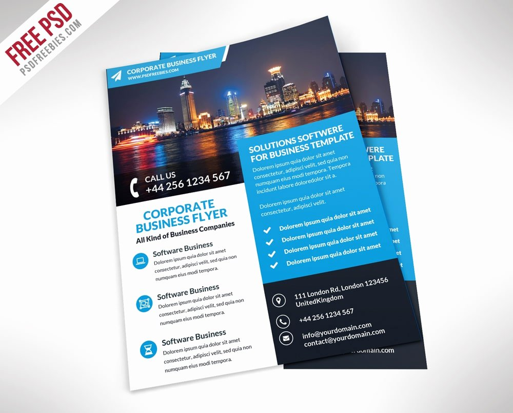 Free Business Flyer Templates Inspirational Free Flyer Templates Psd From 2016 Css Author