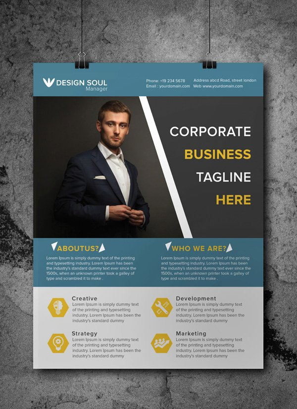 Free Business Flyer Templates Luxury Free Corporate Business Flyer Psd Template