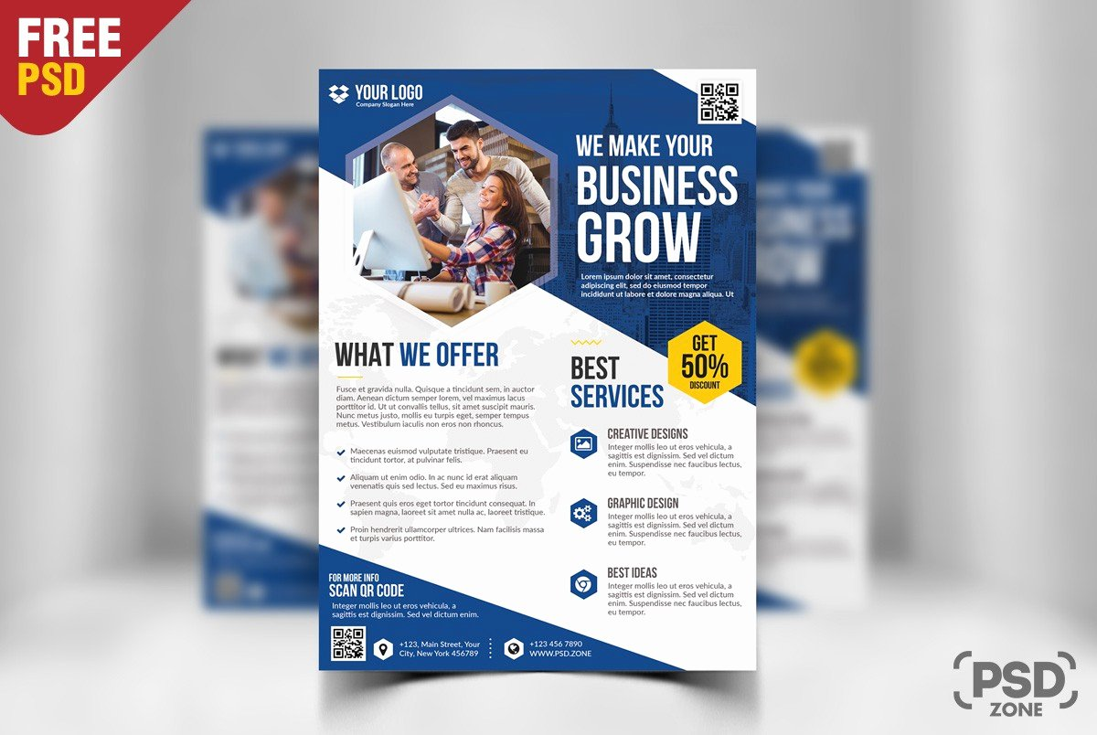 Free Business Flyer Templates New Free Business Flyer Template Psd Download Psd