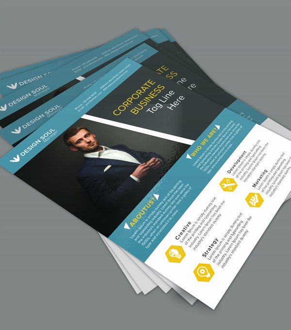 Free Business Flyer Templates New Free Corporate Business Flyer Psd Template