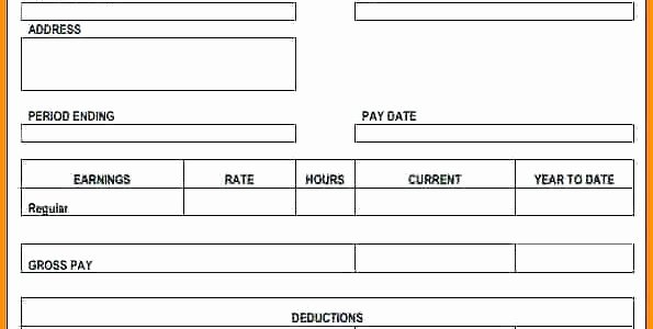 Free Check Stub Template Inspirational the Easiest Way to Use A Free Pay Stub Template In