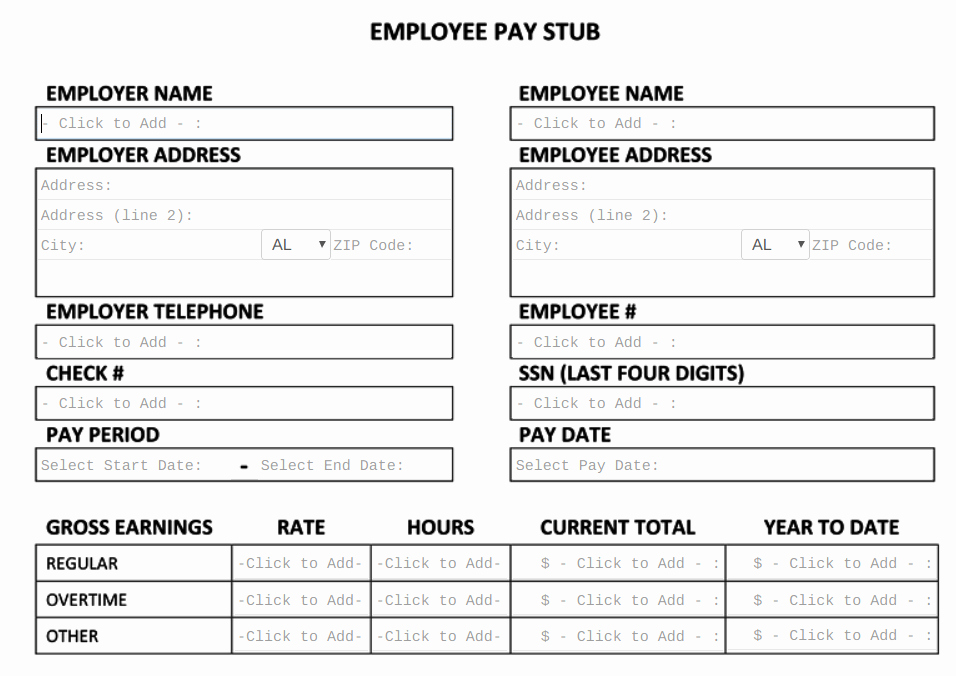 Free Check Stub Template Lovely Free Pay Stub Template Tips & What to Include