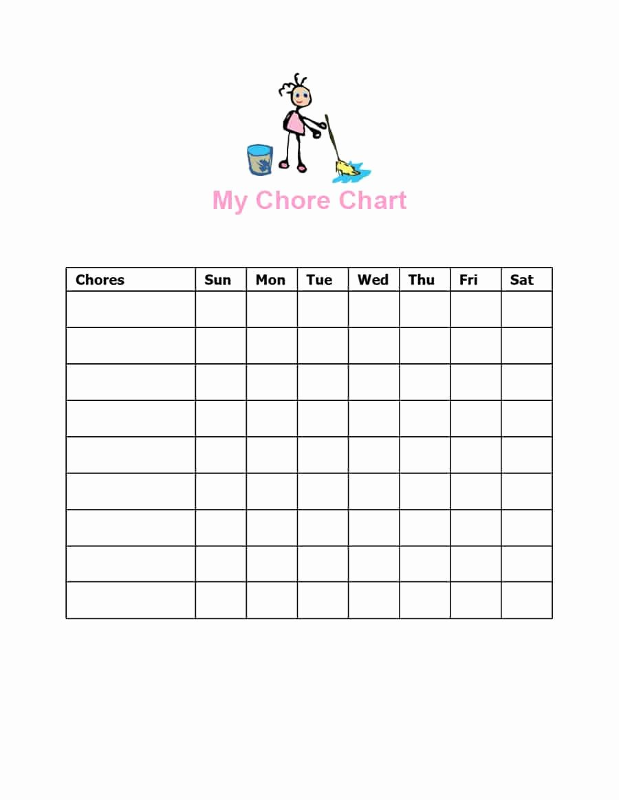 Free Chore Chart Template Elegant Free Editable Printable Chore Charts with