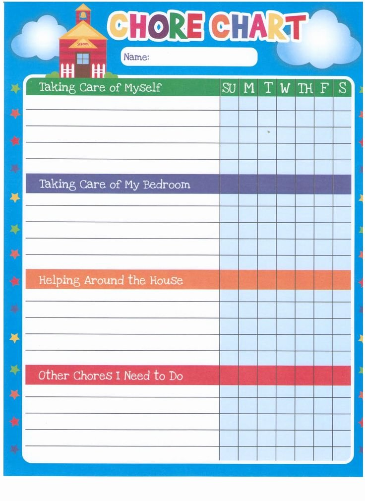 Free Chore Chart Template Lovely Chore Chart Template