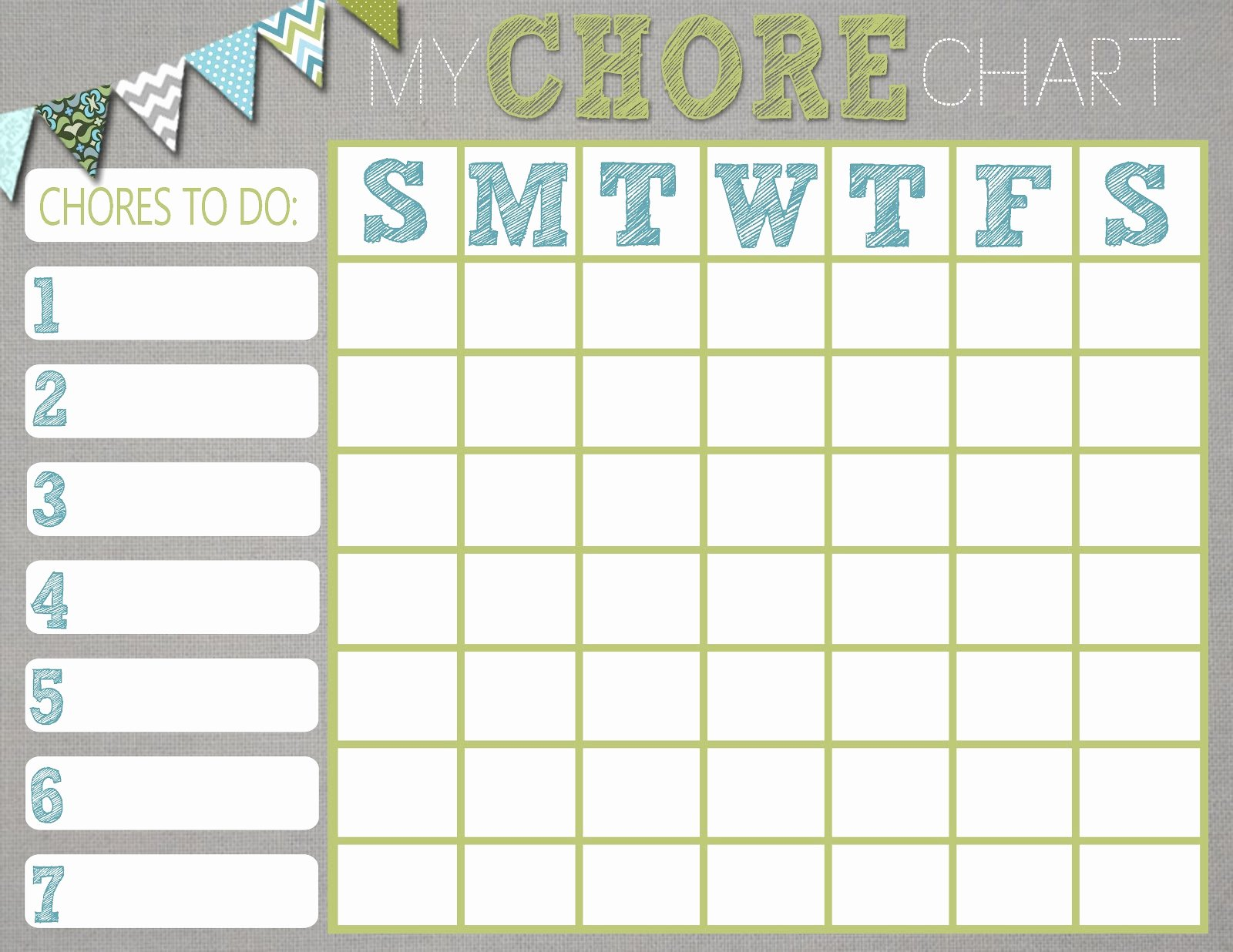 Free Chore Chart Template Unique Chore Charts