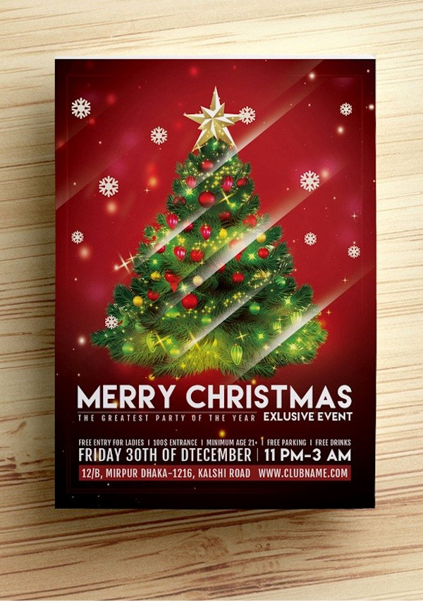 Free Christmas Flyer Templates Awesome Christmas Flyer Template Free