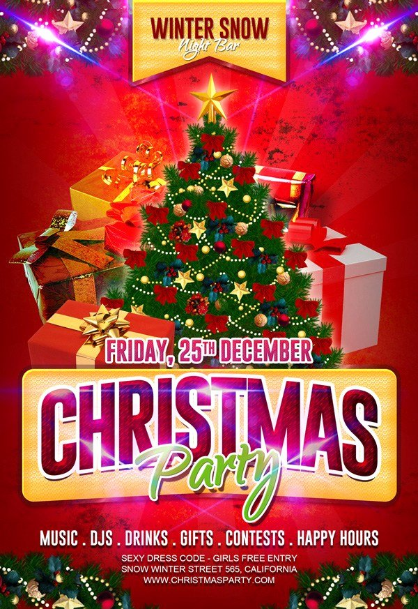 Free Christmas Flyer Templates Best Of 30 Free Christmas Party Flyers and New Year Party Flyer