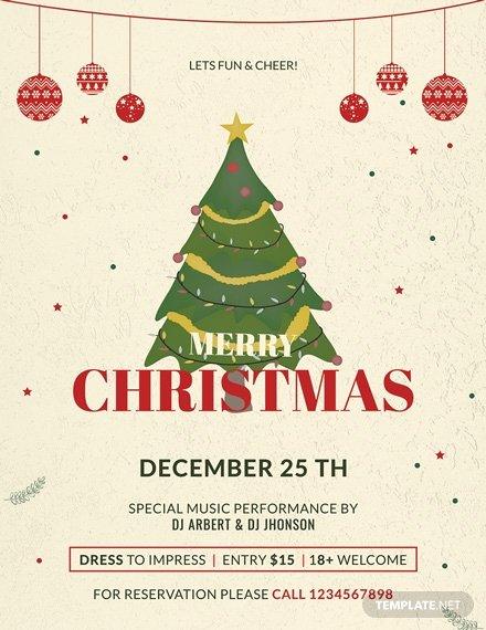 Free Christmas Flyer Templates Elegant 34 Free Christmas Flyer Templates Word Psd