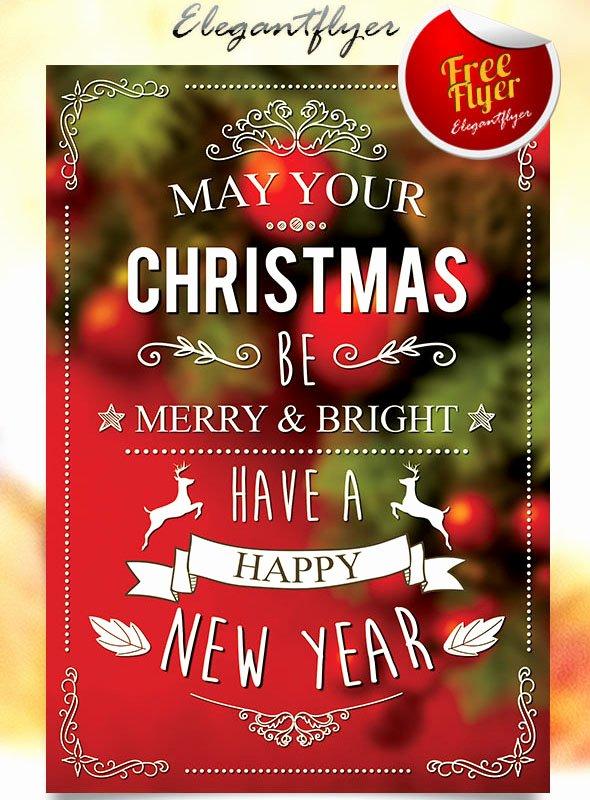 Free Christmas Flyer Templates Elegant 45 Christmas Premium & Free Psd Holiday Card Templates for