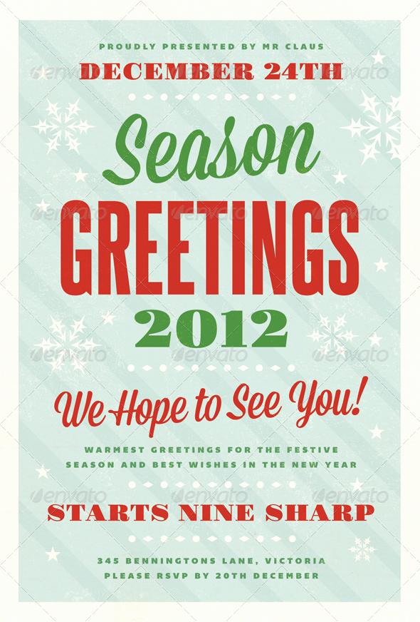Free Christmas Flyer Templates Elegant Festive Christmas Flyer Template by Furnace