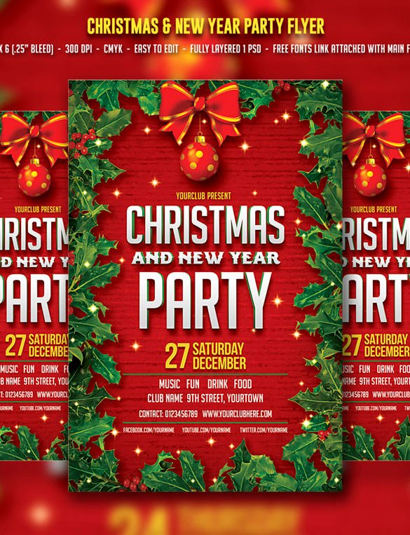 Free Christmas Flyer Templates Fresh 78 Christmas Flyer Templates Psd Ai Illustrator Word