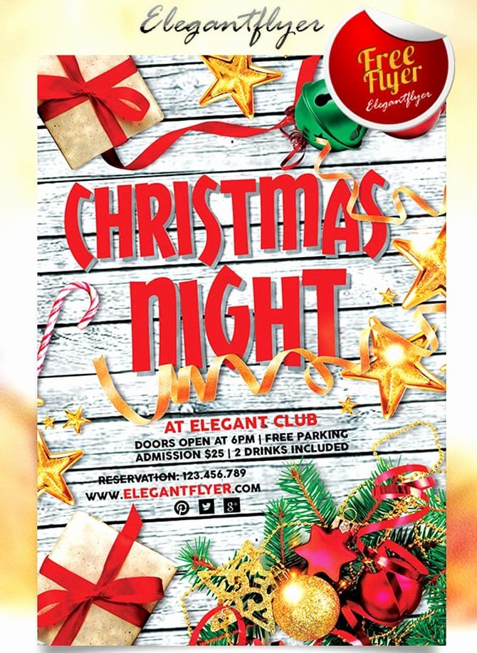 Free Christmas Flyer Templates Fresh Best Free Christmas and New Year Psd Flyers to Promote