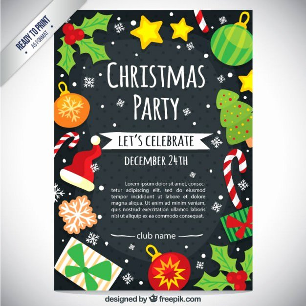 Free Christmas Flyer Templates Inspirational 30 Free Christmas Vector Graphics & Party Flyer Templates