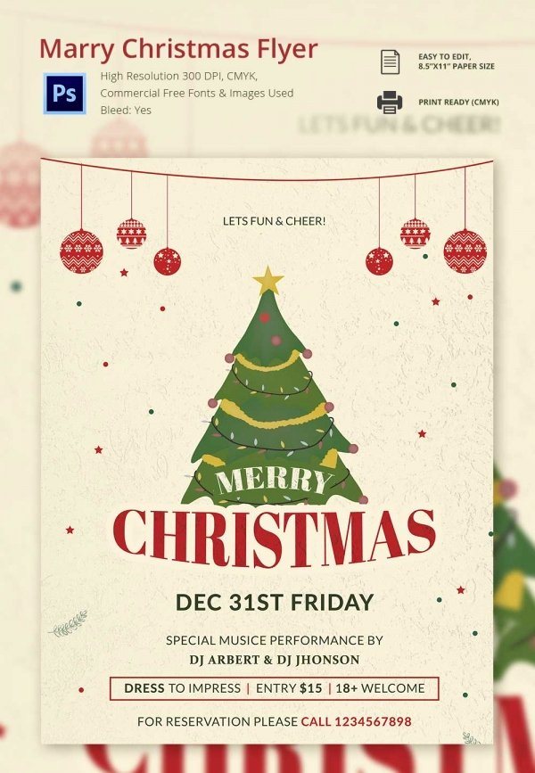 Free Christmas Flyer Templates Lovely 37 Free Christmas Templates & Designs Psd Ai