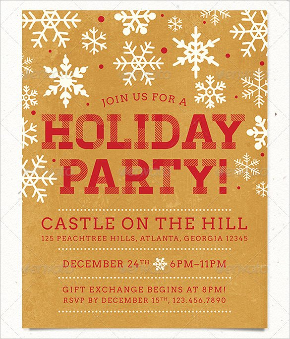 Free Christmas Flyer Templates Luxury 27 Holiday Party Flyer Templates Psd