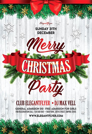 Free Christmas Flyer Templates Luxury Christmas Party 2017 – Free Flyer Psd Template – by