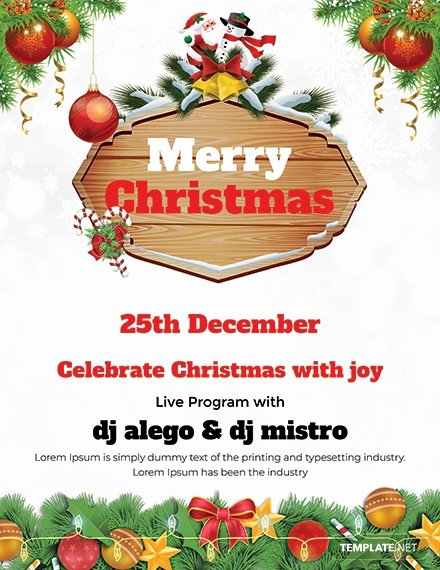 Free Christmas Flyer Templates New 34 Free Christmas Flyer Templates Word Psd
