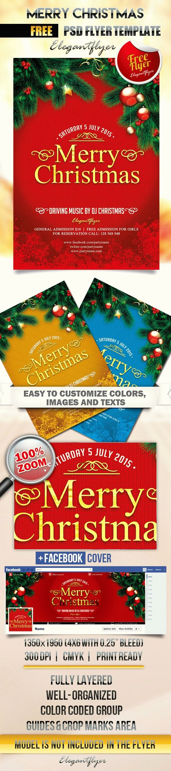 Free Christmas Flyer Templates New Free Printable Christmas Tree Template – by Elegantflyer