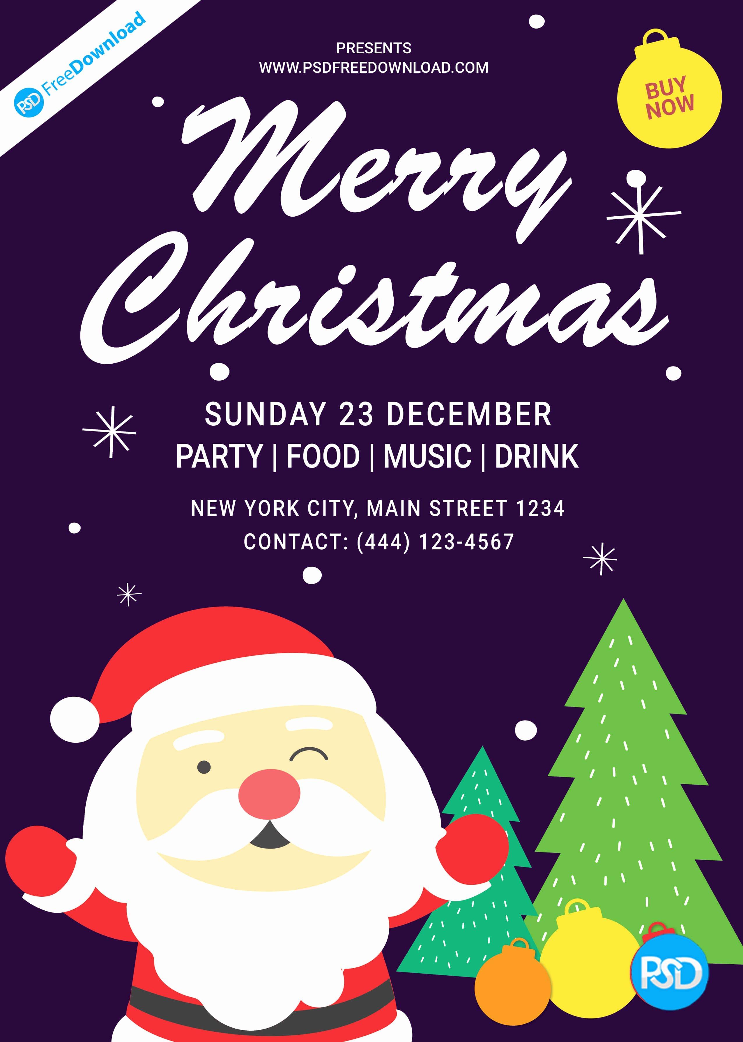 Free Christmas Flyer Templates Unique Christmas Flyer Template Design
