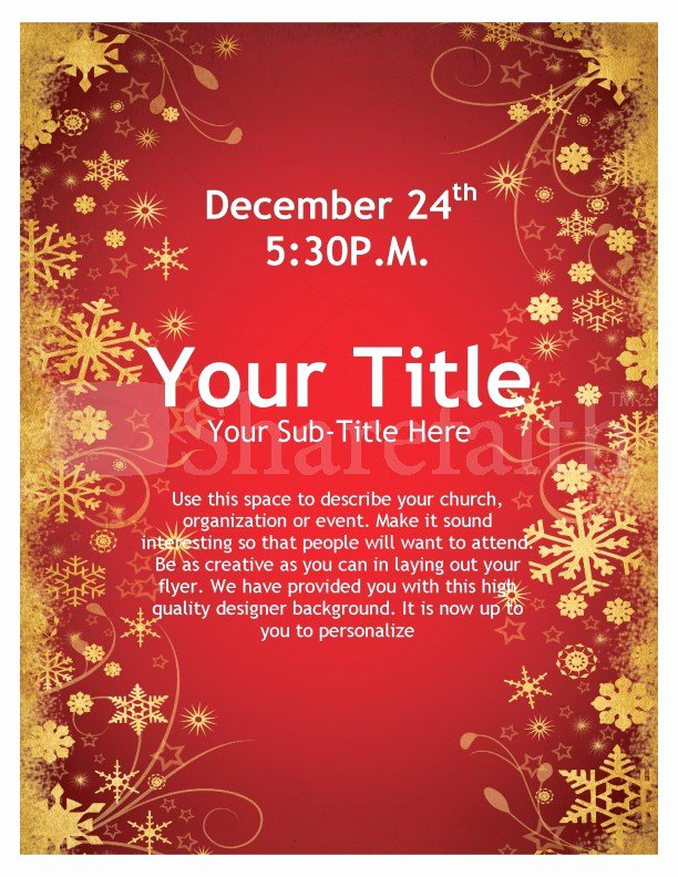 Free Christmas Flyer Templates Unique Joy Christmas Flyer