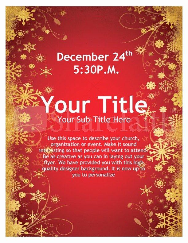 Free Christmas Flyer Templates Unique Joy Christmas Flyer