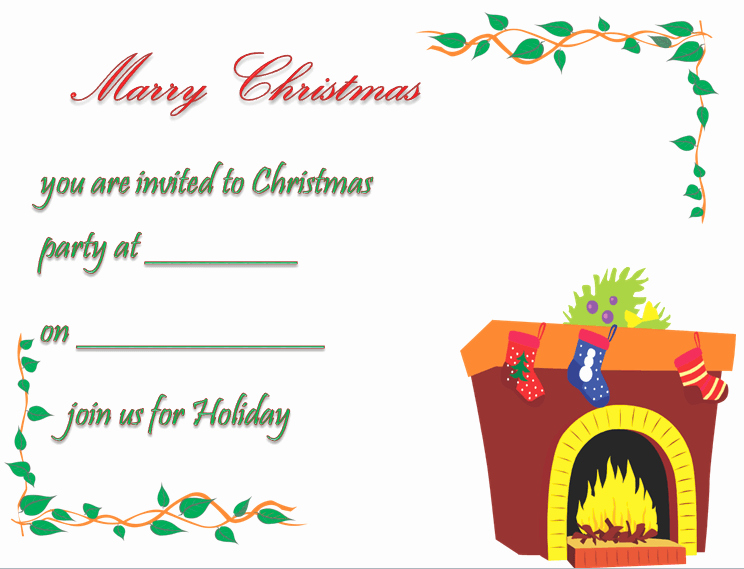 Free Christmas Party Invitations Template Awesome Christmas Party Invitation Template Free & Printable