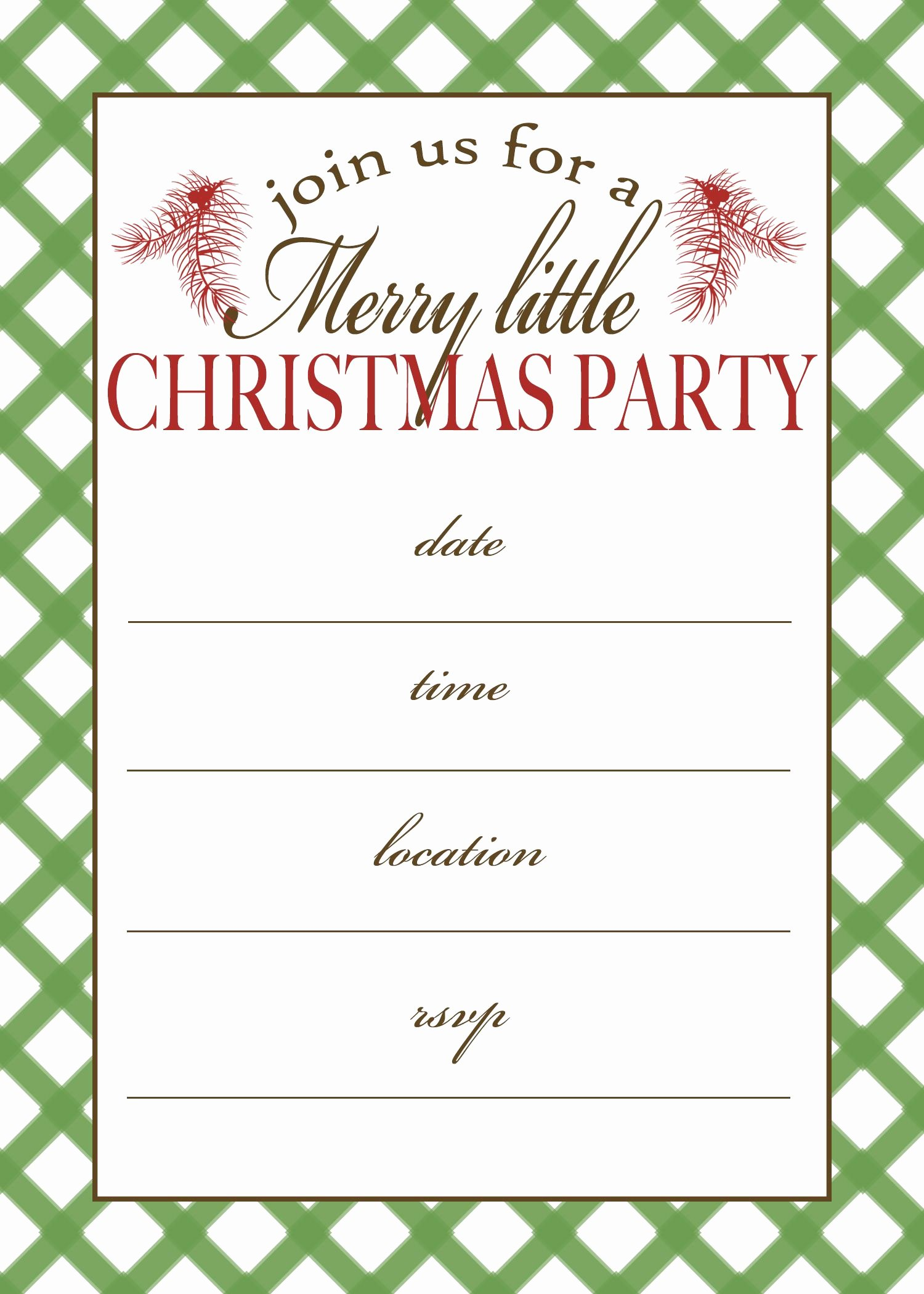 Free Christmas Party Invitations Template Awesome Free Printable Christmas Party Invitation