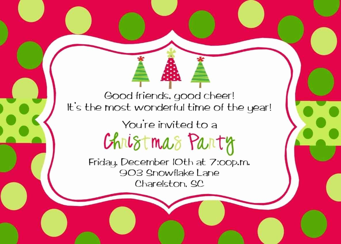 Free Christmas Party Invitations Template Best Of Free Printable Christmas Party Invitations Template