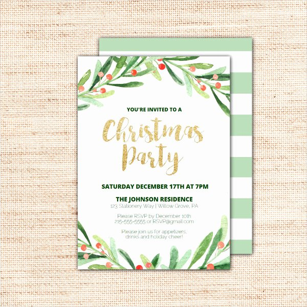 Free Christmas Party Invitations Template Elegant 31 Christmas Party Invitation Templates Psd Ai Word
