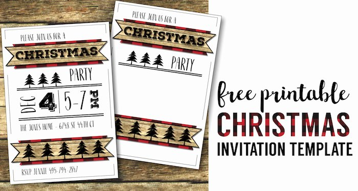 Free Christmas Party Invitations Template Elegant Christmas Party Invitation Templates Free Printable