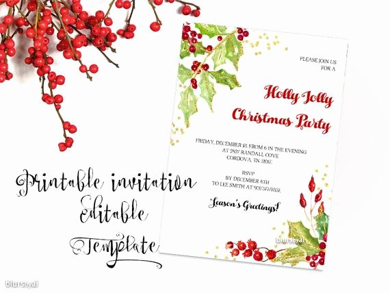 Free Christmas Party Invitations Template Elegant Printable Christmas Party Invitation Template Christmas