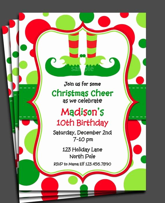 Free Christmas Party Invitations Template Fresh Items Similar to Christmas Elf Invitation Printable or