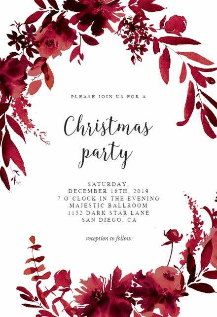 Free Christmas Party Invitations Template Inspirational Christmas Party Invitation Templates Free