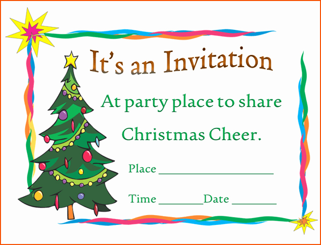 Free Christmas Party Invitations Template Lovely 6 Christmas Party Invitation Template Bookletemplate