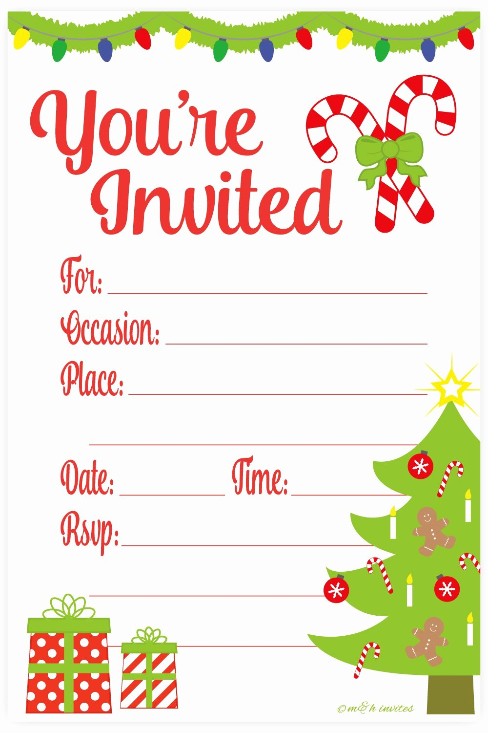 Free Christmas Party Invitations Template Lovely Amazon Snowflake Classic Christmas Invitations Fill