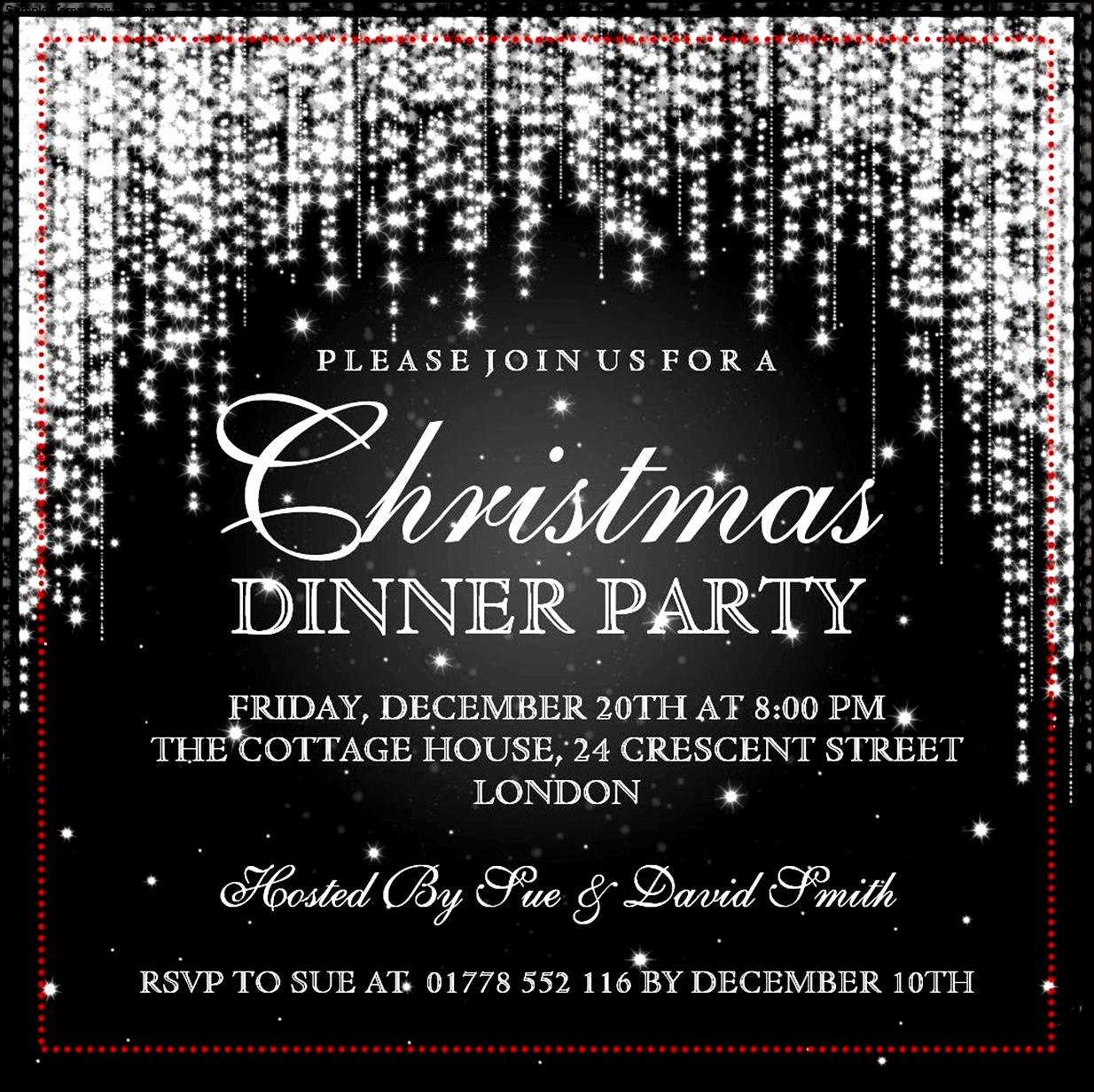 Free Christmas Party Invitations Template Lovely Christmas Invitation Template