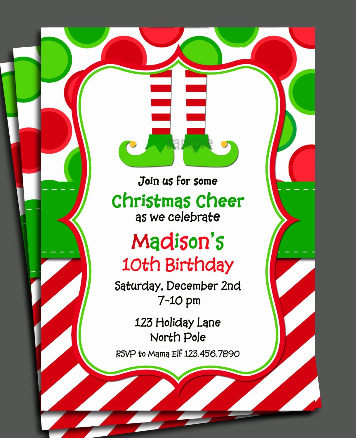 Free Christmas Party Invitations Template Luxury Christmas Elf Invitation Printable Christmas Birthday