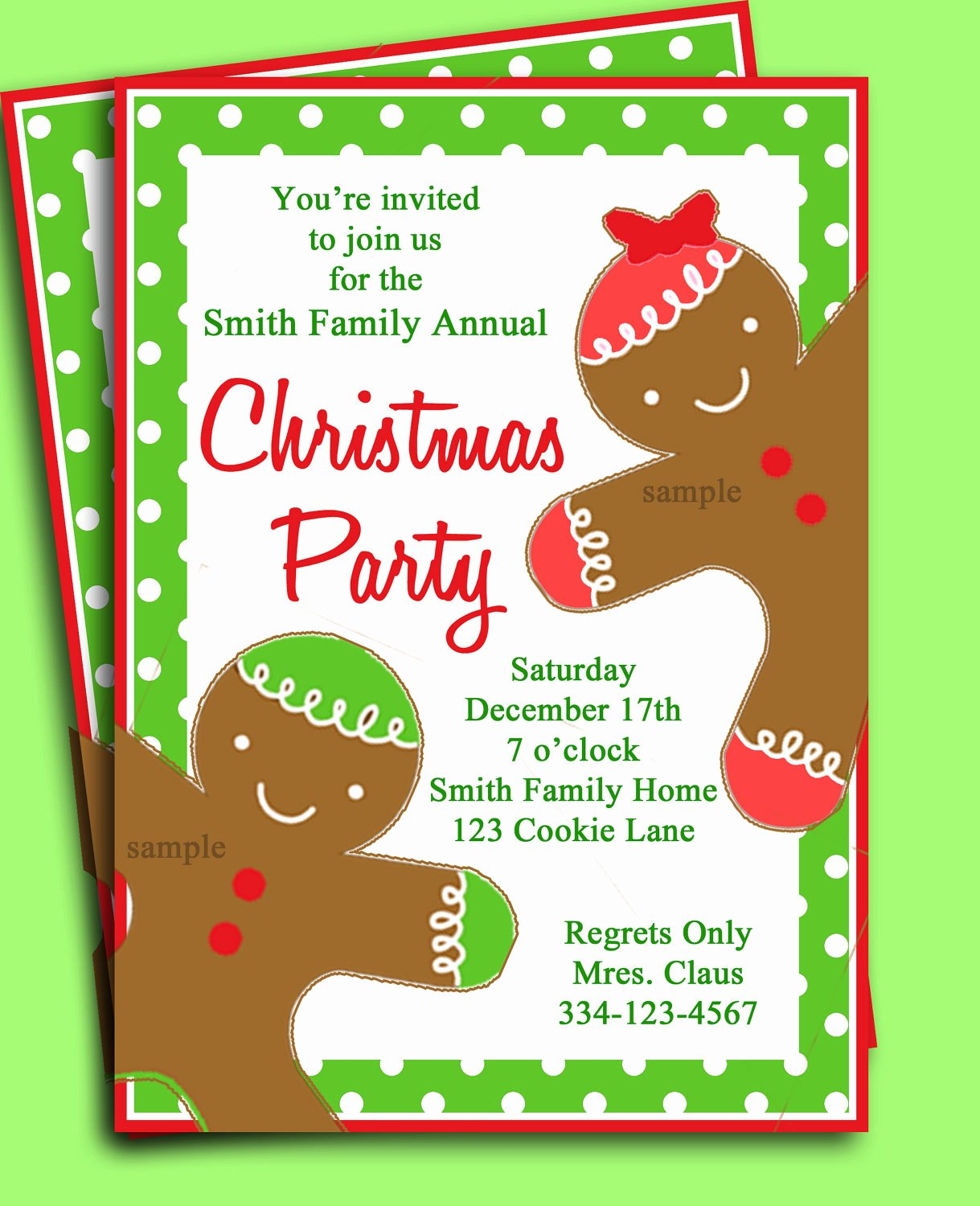 Free Christmas Party Invitations Template Luxury Christmas Party Invitation Printable Gingerbread Kid
