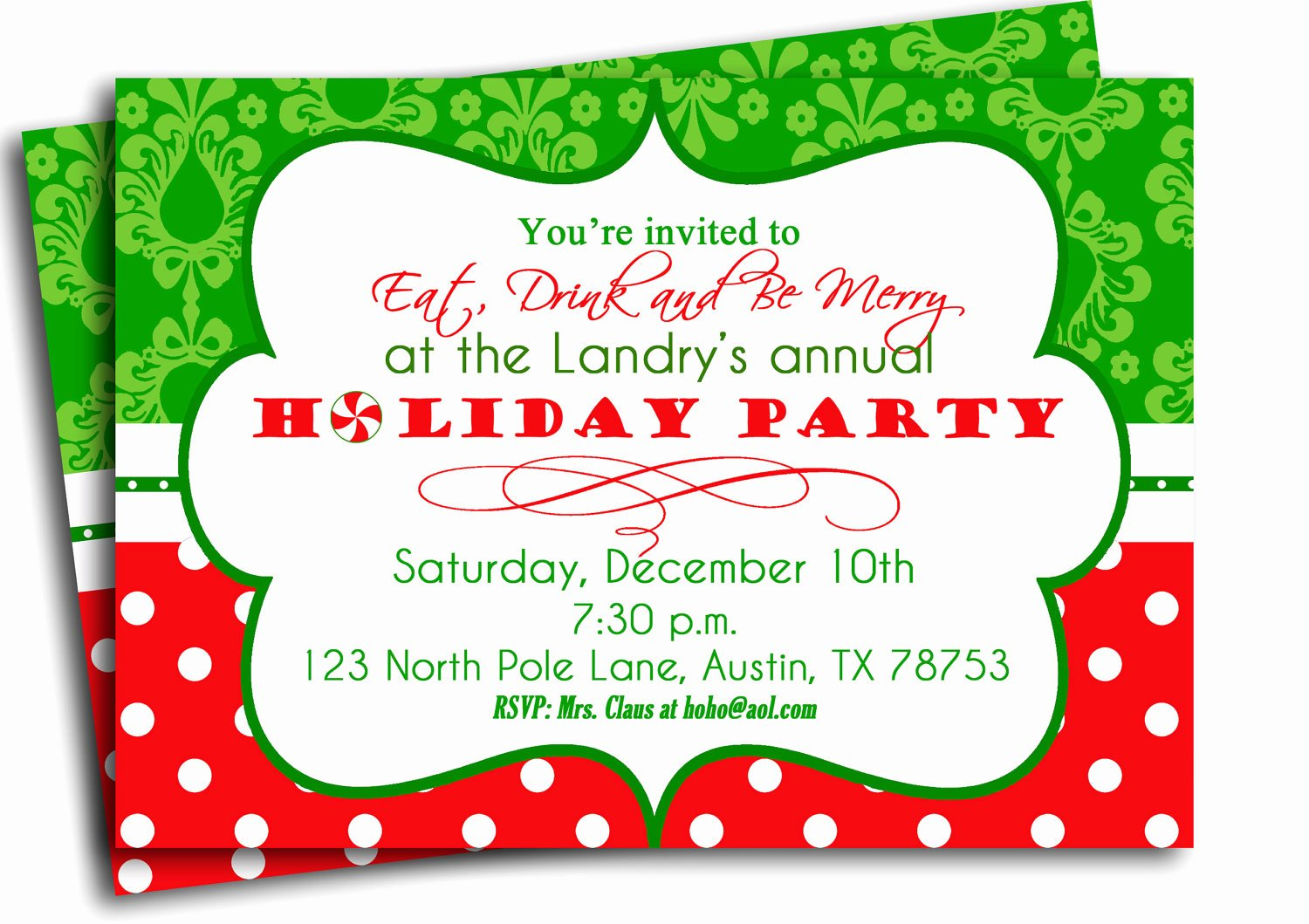Free Christmas Party Invitations Template New Christmas Party Invitation Printable Traditional Holiday