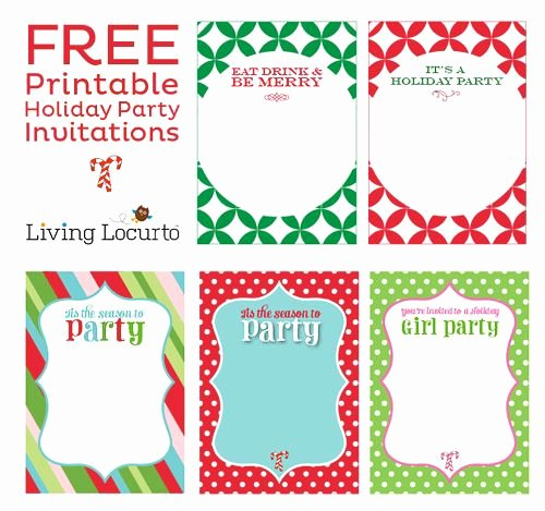 Free Christmas Party Invitations Template New Free Printable Holiday Party Invitations