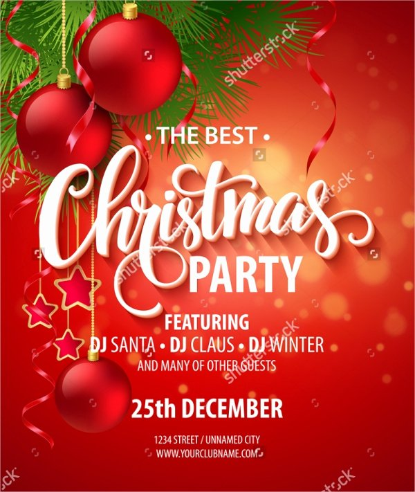 Free Christmas Party Invitations Template Unique 32 Christmas Party Invitation Templates Psd Vector Ai