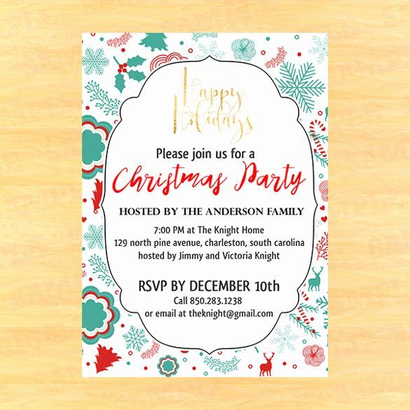 Free Christmas Party Invitations Template Unique Christmas Invitation Template
