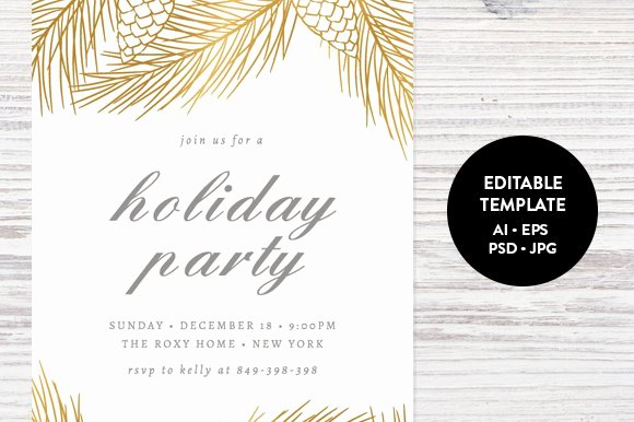 Free Christmas Party Invitations Template Unique Holiday Party Invitation Template Invitation Templates