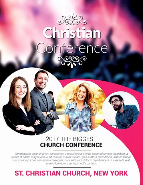 Free Church Flyer Templates Awesome Christian Conference Church Psd Flyer Template Download