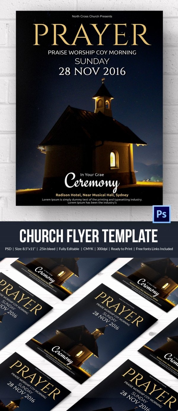 Free Church Flyer Templates Best Of Church Flyers 46 Free Psd Ai Vector Eps format