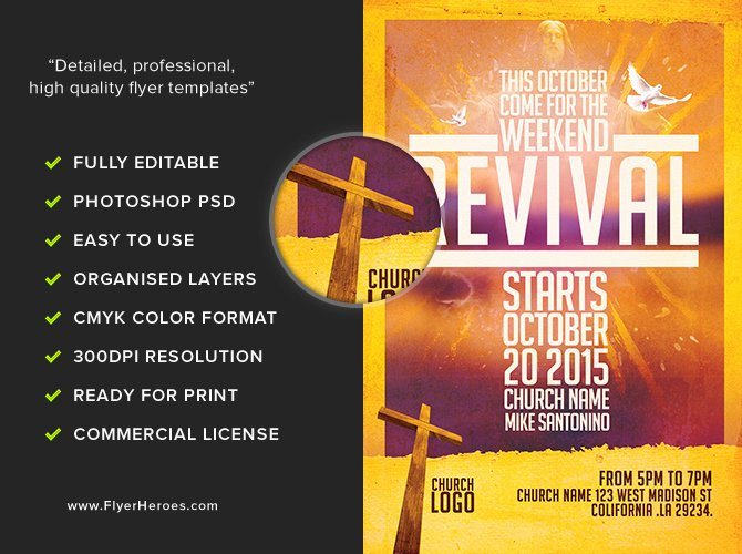 Free Church Flyer Templates Elegant Church Revival Flyer Template Flyerheroes