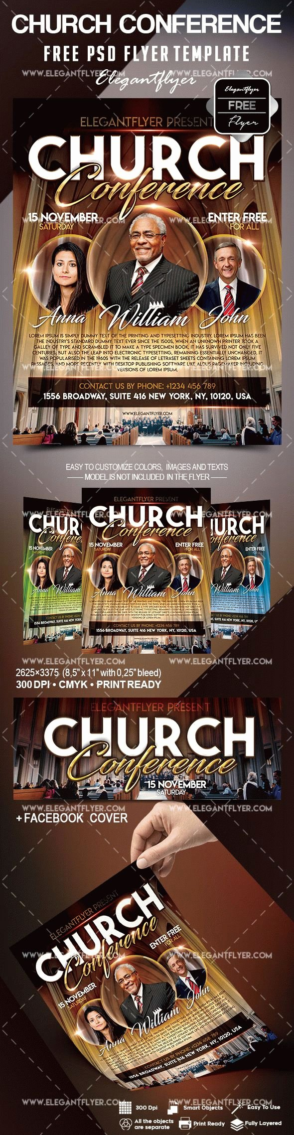 Free Church Flyer Templates Elegant Free Church Conference Flyer Template – by Elegantflyer