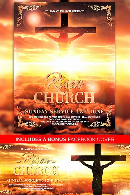 Free Church Flyer Templates Lovely Risen Church Free Poster Template