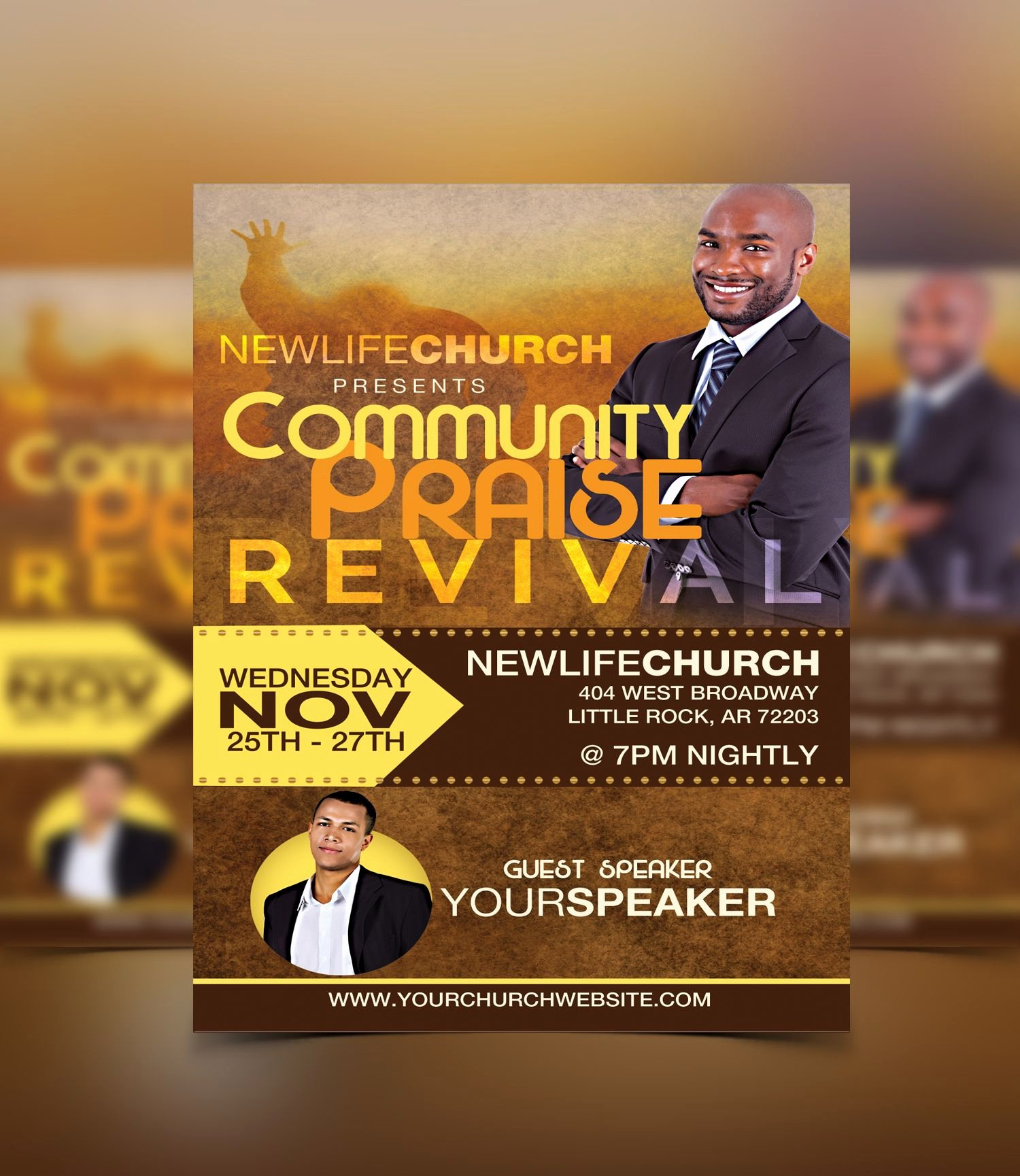 Free Church Flyer Templates Luxury Revival Flyer Template Flyerthemes