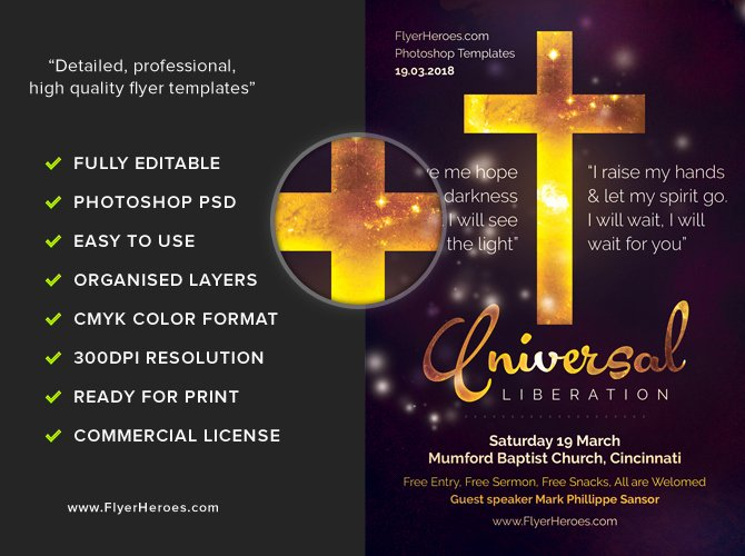 Free Church Flyer Templates Luxury Universal Liberation Church Flyer Template Flyerheroes